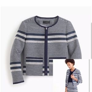 Jcrew jacket in striped navy tweed